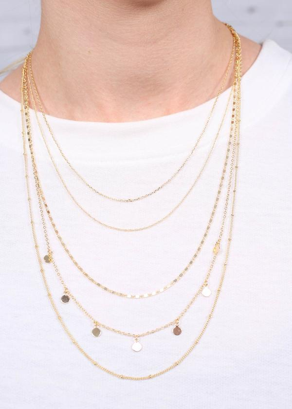 Miila Multi Layer Necklace Gold - Caroline Hill