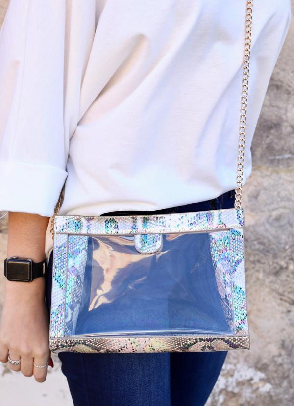 Miller Snake Multi Hologram Clear Bag - Caroline Hill