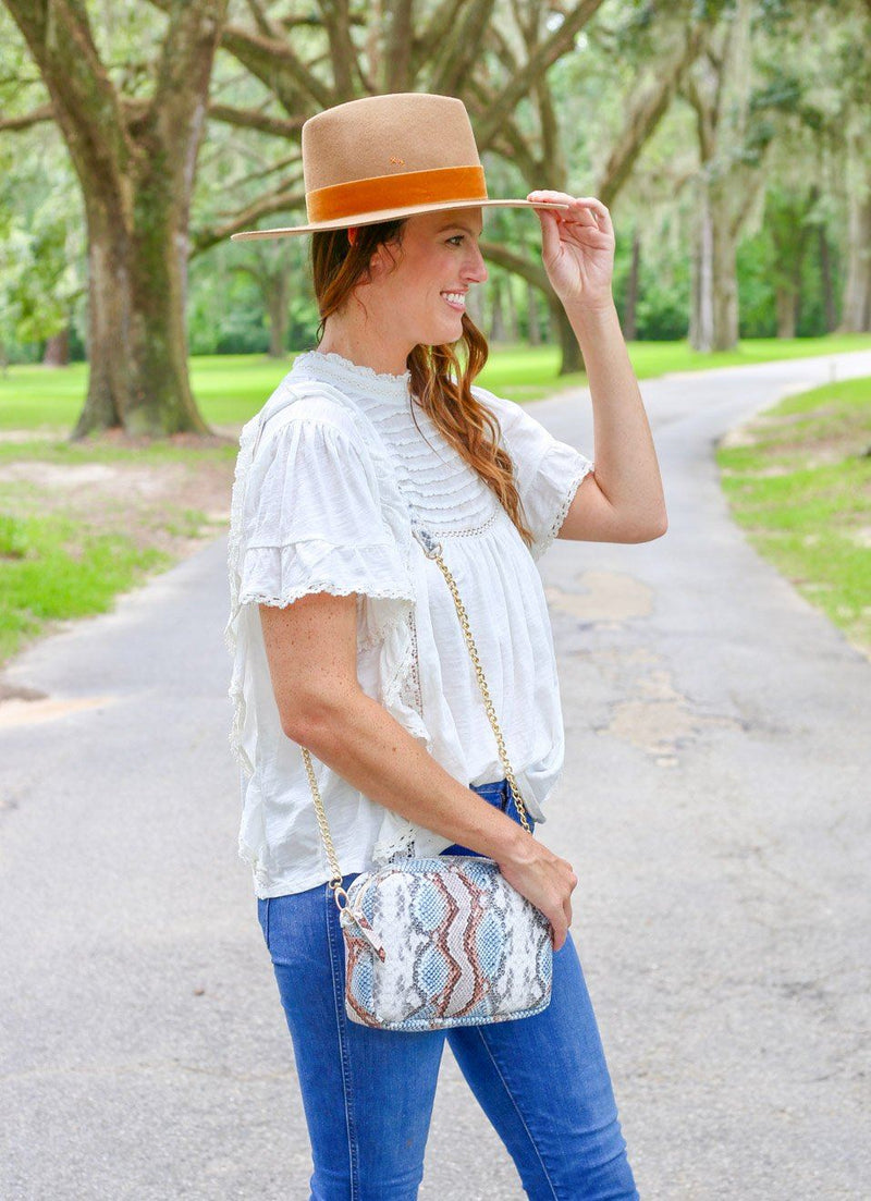Millie Snake Sunset Crossbody - Caroline Hill