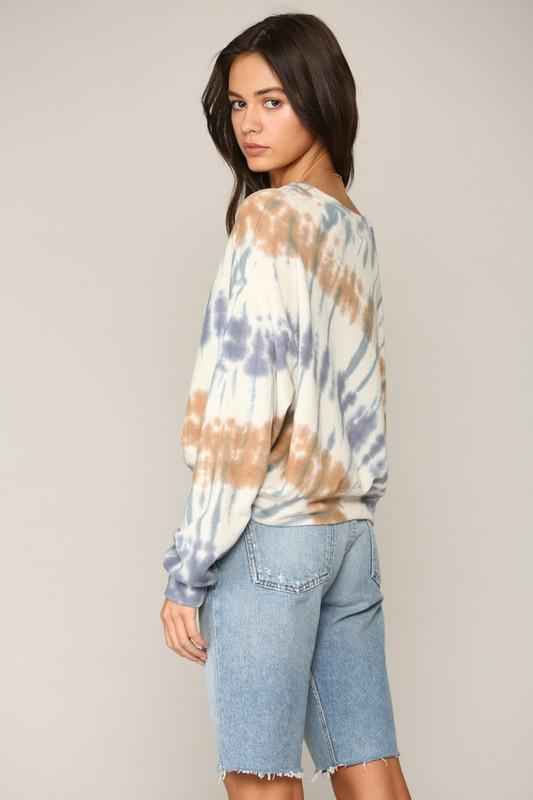 Mix It Up Blue Tie Dye Top - Caroline Hill
