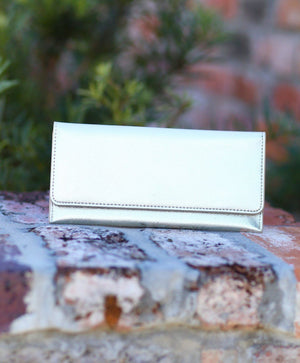 Morgan Gold Foldover Wallet - Caroline Hill