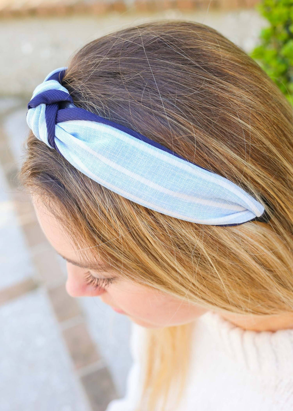 Nautica Blue Striped Headband - Caroline Hill