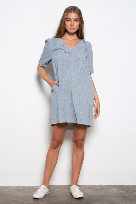 On The Go Stripe Dress - Caroline Hill