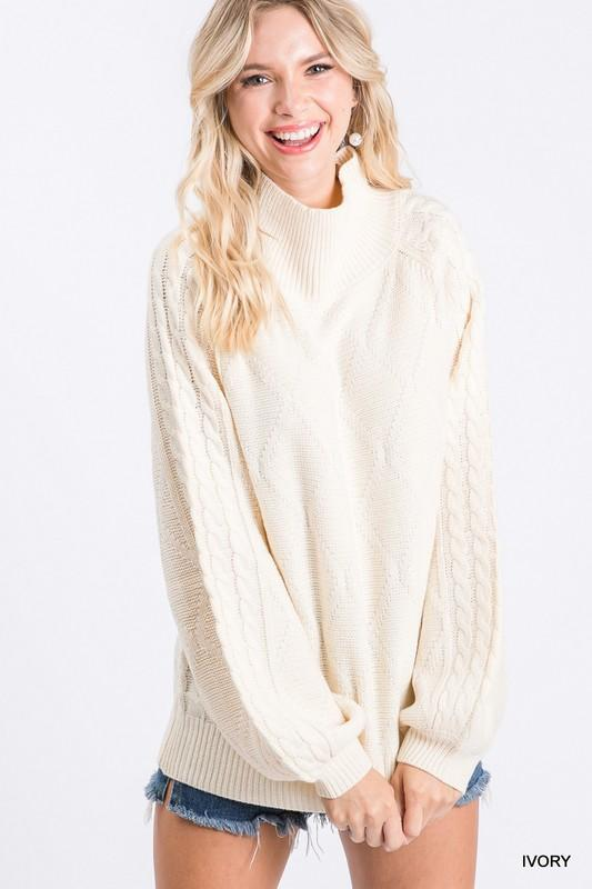 One Night Only Bubble Sleeve Sweater - Caroline Hill