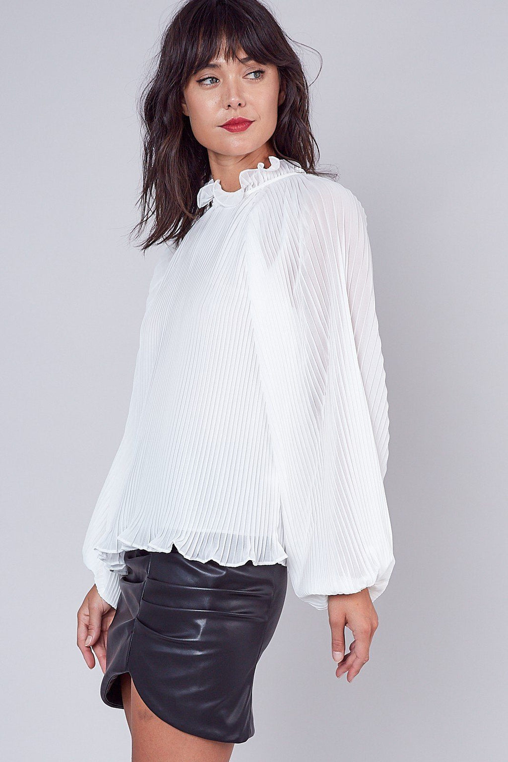 Out Of The Office White Top - Caroline Hill