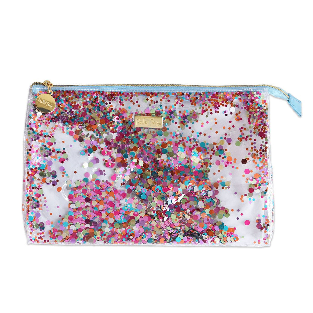 Packed Party Biggie Multi Confetti Zip Pouch - Caroline Hill