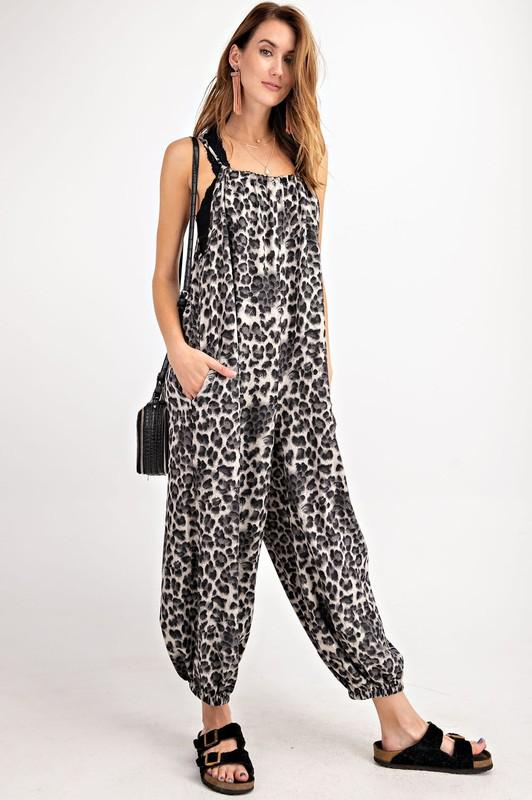 Paint And Sip Cheetah Jumpsuit - Caroline Hill