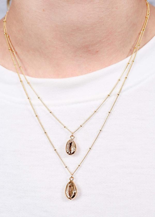 Palmer Double Layer Necklace Gold - Caroline Hill