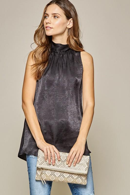 Party Girl Satin Top - Caroline Hill