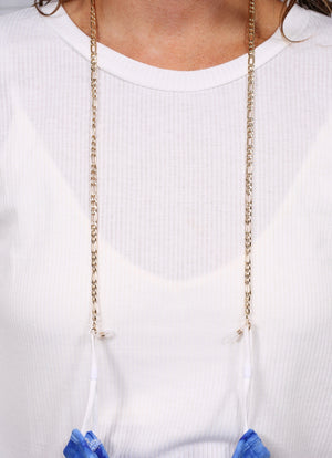 Patey Gold Link Mask Chain - Caroline Hill