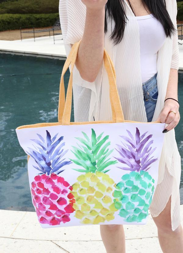 Pineapple Party Tote Bag Multi - Caroline Hill
