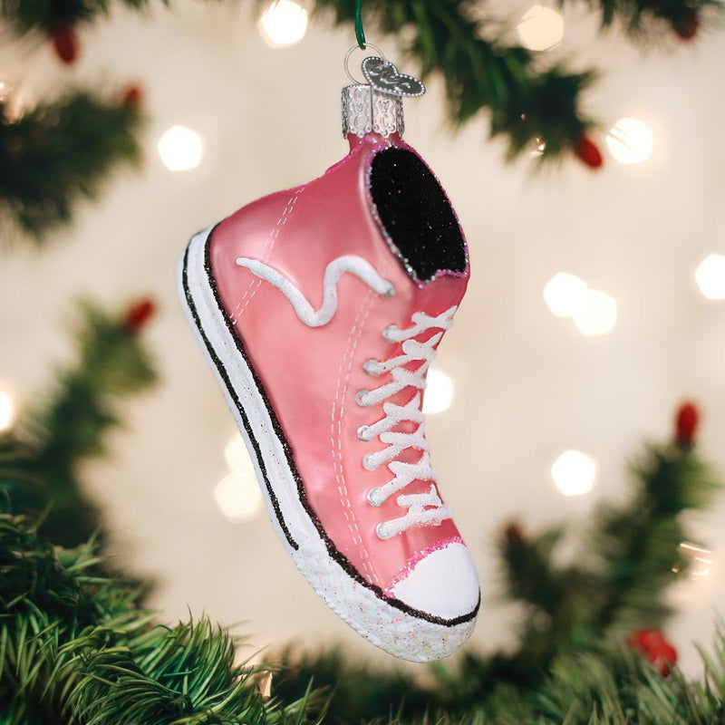 Pink High Top Sneaker Old World Ornament - Caroline Hill