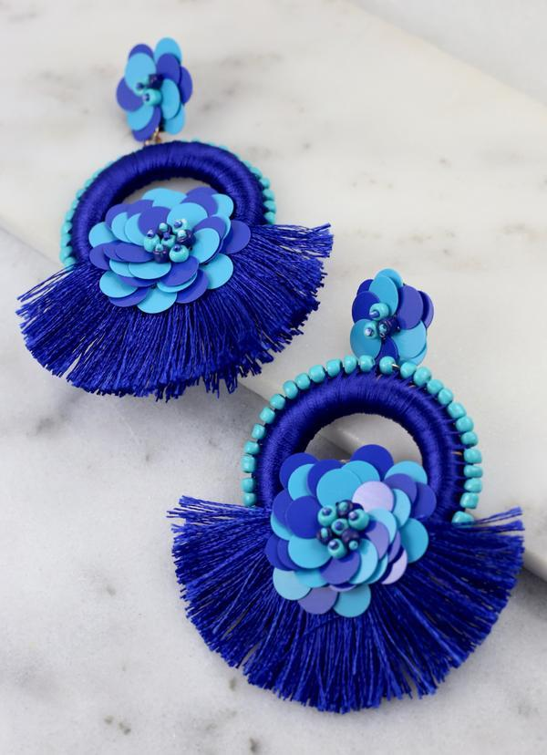 Pipa Beach Earring Blue Reef - Caroline Hill