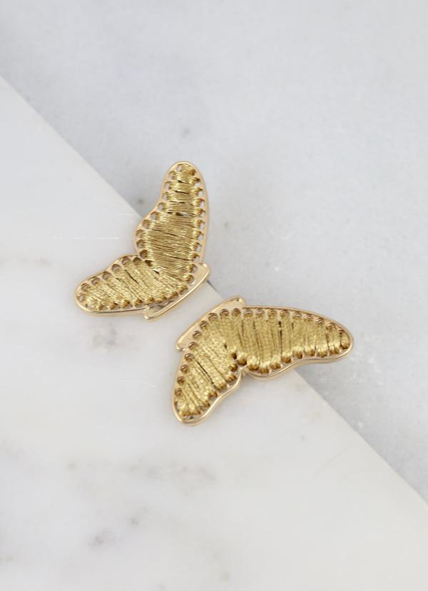 Potter Butterfly Wing Earring Gold - Caroline Hill