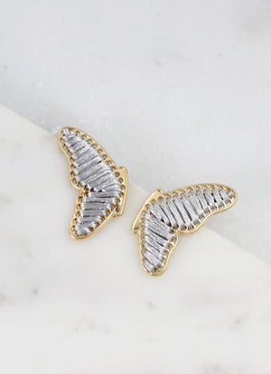 Potter Butterfly Wing Earring Silver - Caroline Hill