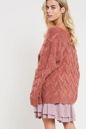 Prep and Prime Cable Knit Sweater - Caroline Hill