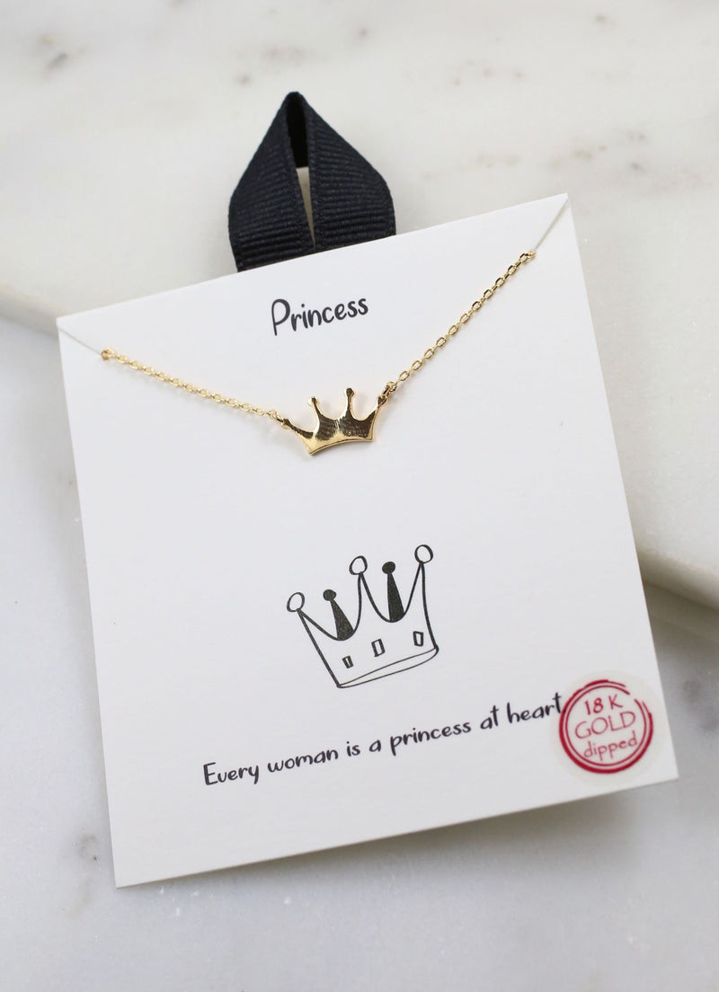 Princess Crown Delicate Necklace - Caroline Hill