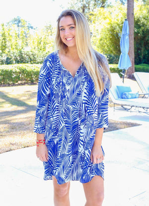 Private Island Palm Springs Navy Dress - Caroline Hill