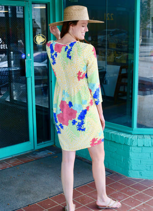 Private Island Tropical Yellow Leopard Dress - Caroline Hill