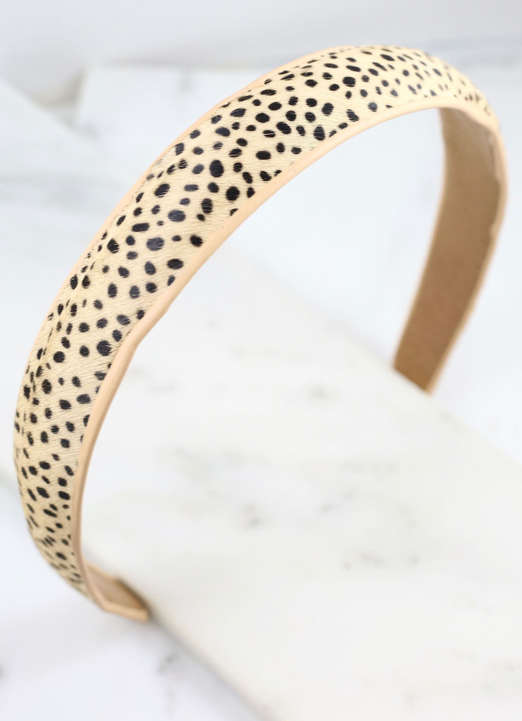 Pruitt Animal Print Headband Beige - Caroline Hill