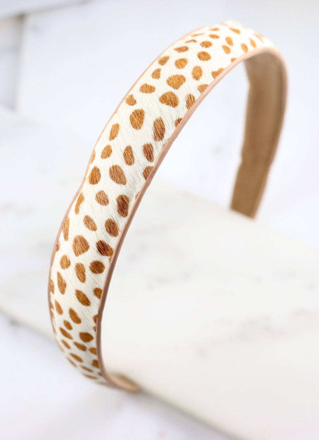 Pruitt Animal Print Headband Tan - Caroline Hill