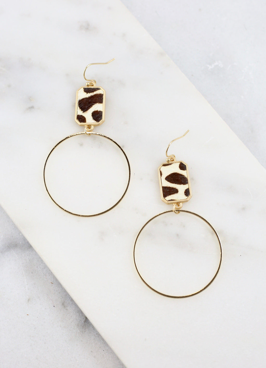 Purcell Ivory Animal Print Drop Earring - Caroline Hill
