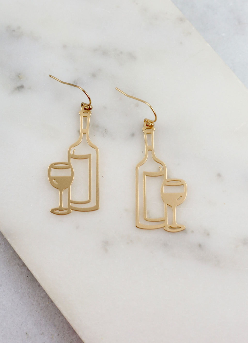 Put A Cork In It Earring Matte Gold - Caroline Hill