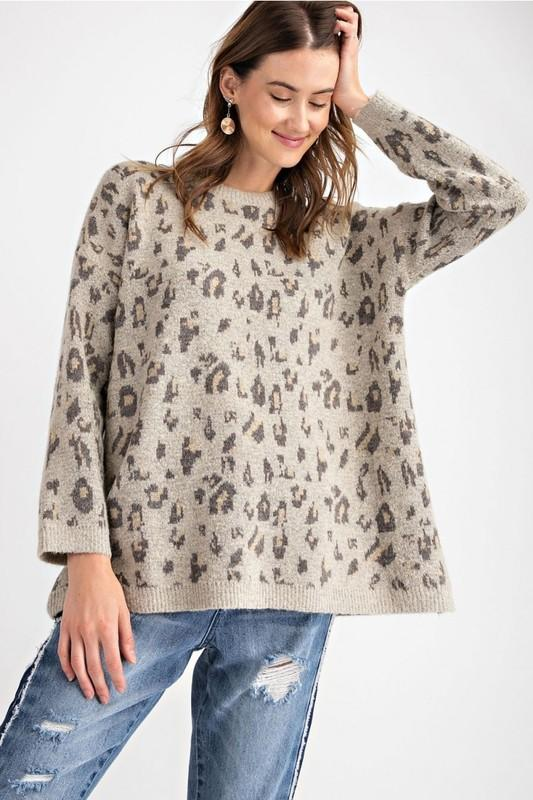 Queen For A Day Leopard Sweater - Caroline Hill