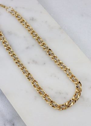 Rafe Gold Dual Tone Chain Link Necklace - Caroline Hill