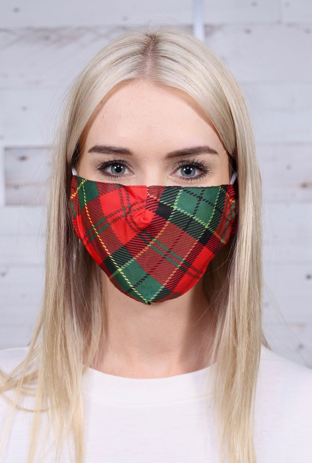 Rafferty Plaid Face Mask Red - Caroline Hill