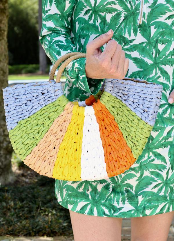 Ray Of Sunshine Straw Bag Multi - Caroline Hill