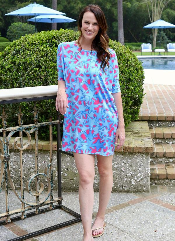 Reese Relaxed Dress Bluffharbor Starfish - Caroline Hill
