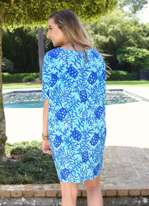 Reese Relaxed Dress Coco Bay Turtles - Caroline Hill