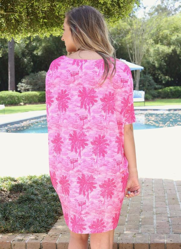 Reese Relaxed Dress Pig Island Pink - Caroline Hill