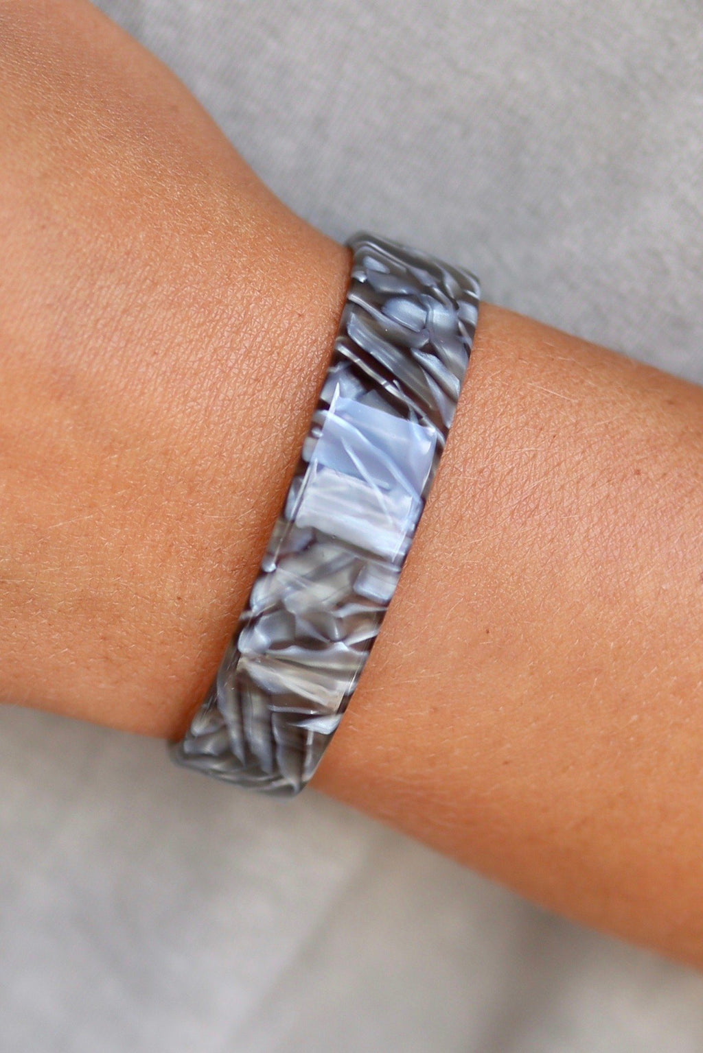 Regan Gray Resin Cuff - Caroline Hill
