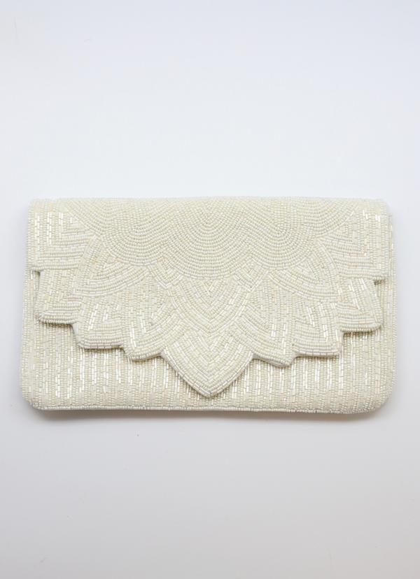 Rue Ivory Beaded Crossbody - Caroline Hill