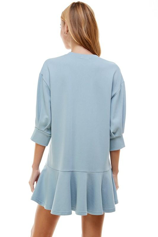 Run Around Town Dress Baby Blue - Caroline Hill