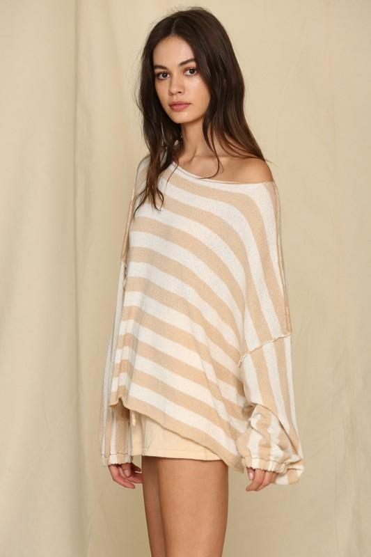 Sand Cropped Sweater - Caroline Hill