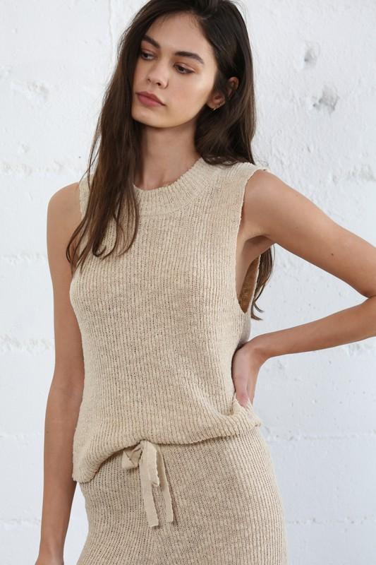 Sandy Shores Sweater Tank - Caroline Hill