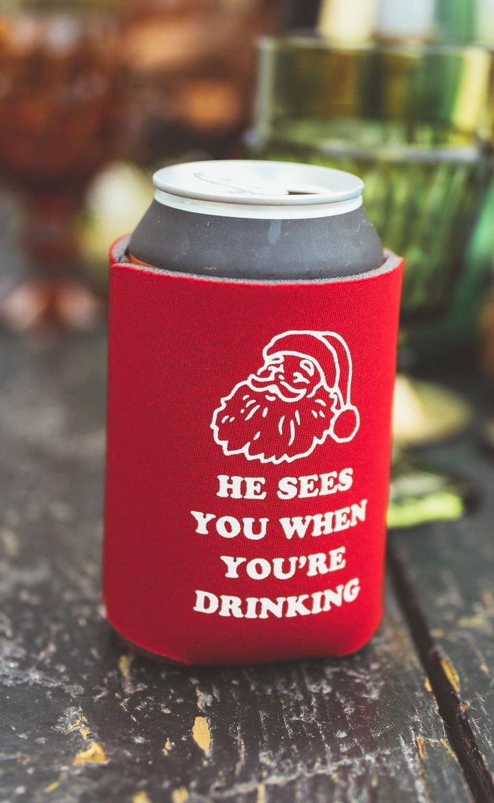 Santa Sees You When You're Drinking Koozie - Caroline Hill