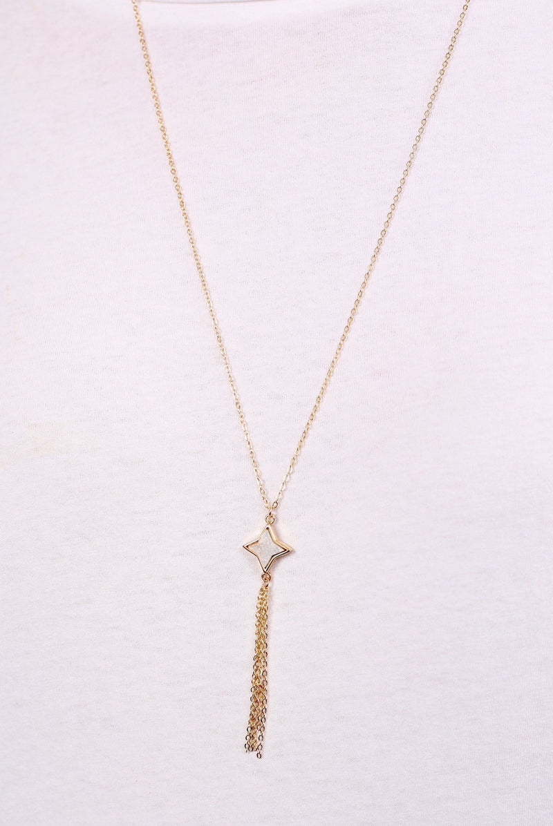 Saralee Druzy Gold Star Necklace - Caroline Hill
