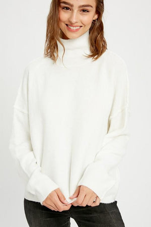 Secret Admirer Ivory Turtleneck - Caroline Hill