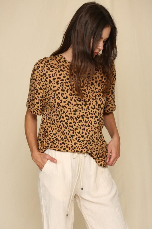 See You Around Leopard Tee - Caroline Hill