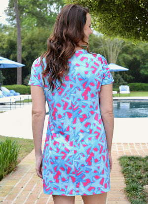 Serena Dress Bluffharbor Starfish - Caroline Hill