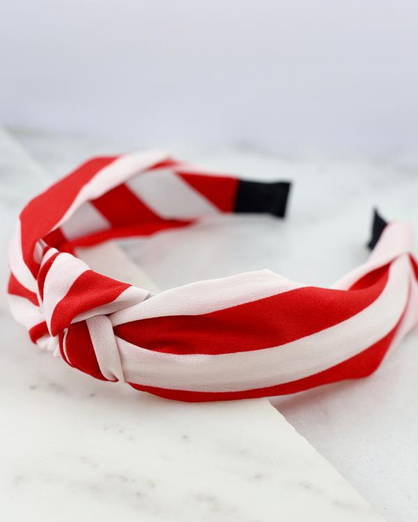 Set Sail Red Striped Headband - Caroline Hill