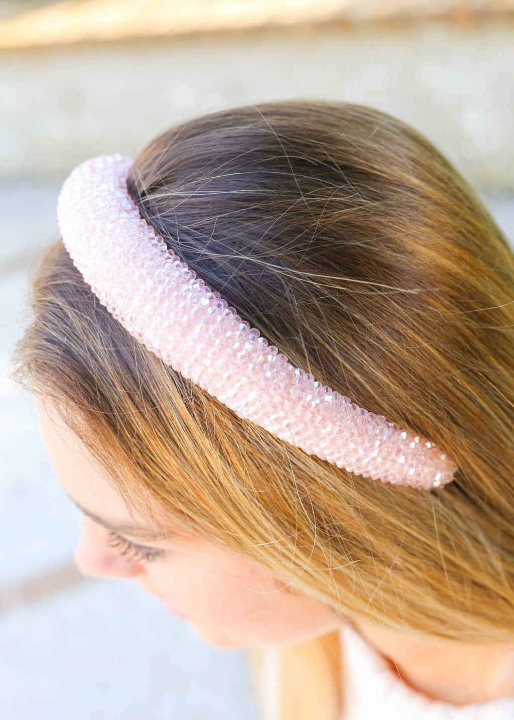 Sharpey Pink Crystal Headband - Caroline Hill