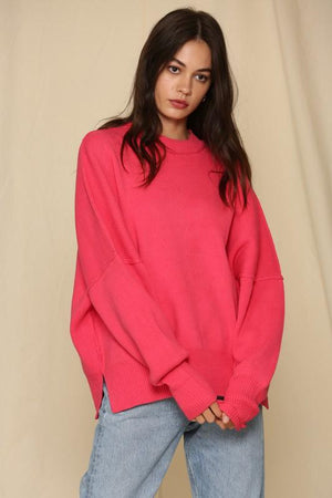 She Just Shines Hot Pink Sweater - Caroline Hill