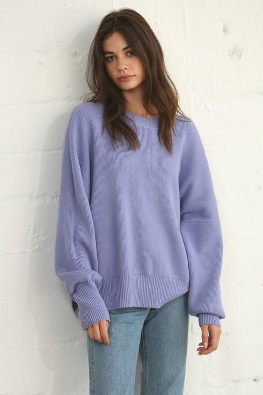She Just Shines Periwinkle Sweater - Caroline Hill