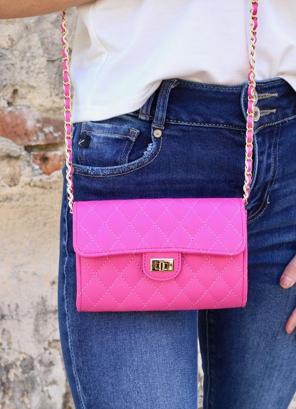 Sitka Quilted Crossbody Pink - Caroline Hill
