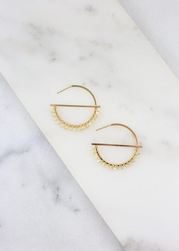 Small Bead Hoop Gold - Caroline Hill